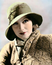 """GRETA GARBO A WOMAN OF AFFAIRS 1928 ACTRESS 8x10"""" HAND COLOR TINTED PHOTOGRAPH"""