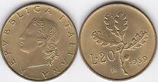 REPUBBLICA ITALIANA RARO 20 LIRE 1959 R