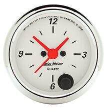 Auto Meter 1385 Arctic White 2 1/16 in. Quartz Movement Analog Clock (52mm)