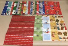 Assorted Scrap Christmas Holiday Sheet Wrapping Paper