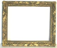 VINTAGE ART NOUVEAU HAND CARVED GILDED WOOD FRAME FOR PAINTING 20 X 16 INCH
