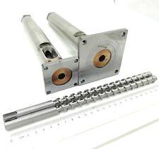 12 mm Diameter Filament Extruder Screw Barrel and Nozzle Small/Big Flange