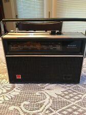 "Vintage 1965 Sharp Solid State Black AM/FM Radio ""Please Read Description"""