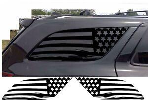 (2) USA Distressed Flag Decal Rear windows fits Dodge Durango 2011-2020 Side