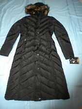 $160 NWT CB Sports Women Black Hooded Full Length Winter Coat  Size M (see meas)