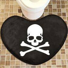 MasterMind MMJ Skull Pirate home decor bath door mat rug carpet heart shape soft