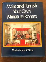 Make & Furnish Your Own Miniature Rooms Dollhouse Book Marian Maeve O'Brien