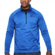 4e0c51011a2a Nike Therma Big tall Quarter Zip Pullover Blue Jay Black 860497-433 Size  2xlt