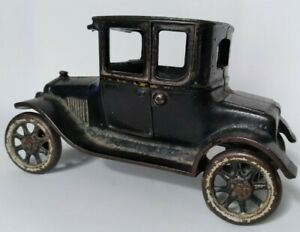 """Antique Arcade 6.5"""" Cast Iron Toy Model T Car Coupe early 1920s"""