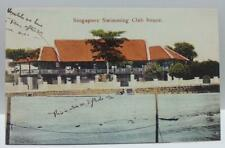 Singapore Swimming Club House Vintage Singapore Postcard Reprint (AC123)