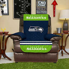 NFL Reversible Furniture Protector - SEATTLE SEAHAWKS - RECLINER COVER