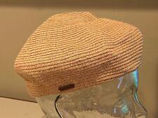 KANGOL Braid Beret Natural 100% straw  Hat Cap SMALL   Cool!!