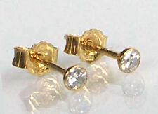 585 ECHT GOLD *** 1 Paar Zirkonia Ohrstecker 3,5 mm
