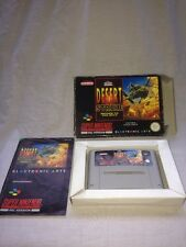 SNES Super Nintendo Desert Strike Gulf Game  PAL Vintage Video Computer Games