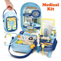 Gift Kids Children Doctor Nurse Toys Medical Set Role Play Kit Hard Carry Bag 3+