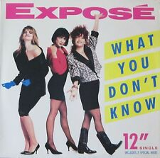 """Expose - What You Don't Know: 5 Versions (12"""" Arista Vinyl Maxi-Single USA 1989)"""