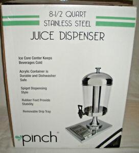 NEW! Pinch 8-1/2 Quart Juice Drink Tea Water Dispenser Restaurant Banquet JUDP-1
