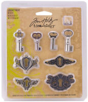 Tim Holtz Idea-ology Locket Keys Embellishments New