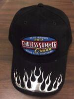 2017 Cruisin Endless Summer car show hat black w silver flame Ocean City MD