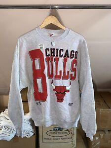 VTG Chicago Bulls NBA Crewneck Sweatshirt Made in USA Sz XL NWT 1990's