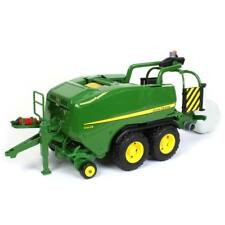 New 1/16 John Deere C441R Tandem Axle Wrapping Round Baler Bruder Toys 09819