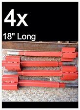 """MARKET STALL UPRIGHT EXTENSION BARS 18"""" LONG (4x PIECES) 25MM SQUARE"""
