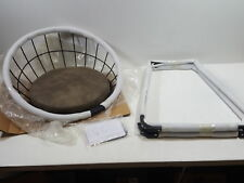 "LCH 24"" Vintage Fabric Bar Stool, Seashell Shape Counter Height Bar Chair, Brown"
