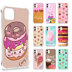 PERSONALISED PHONE CASE INITIALS NAME SILICONE COVER FOR IPHONE 12 PRO 11 13 XR
