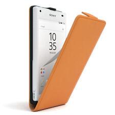 Funda para Sony Xperia Z5 compact Flip funda protectora caso funda naranja