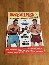 July 1961 Boxing Illustrated Wrestling News Fulmer vs Pender
