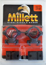 "Millett Steel Rings & Bases CP71102 for Browning A-Bolt 1"" Medium Matte"