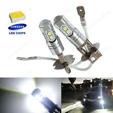 2x H3 453 Bulb SAMSUNG 10 SMD LED High Power Driving Daytime DRL Fog Light Lamps