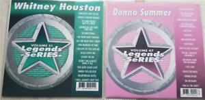 2 CDG LEGENDS KARAOKE DISCS 70S-80S DONNA SUMMER/WHITNEY HOUSTON R&B MUSIC SET
