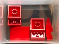 LEGO Parts - Red Slope Curved 3 x 2 No Studs - No 24309 - QTY 5