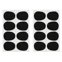 16pcs Alto/tenor Sax Clarinet Mouthpiece Patches Pads Cushions, 0.8mm Black J3T8