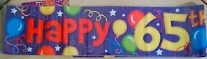 Multi-Coloured Foil Party Banner  - Happy 65th Birthday