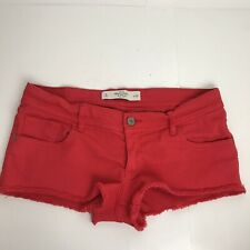 Abercrombie & Fitch New York Red Denim Booty Shorts Size 8 Womens   KK