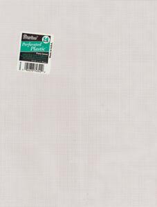 "Darice Perforated Plastic Canvas 14 Count 8.5""X11""-White -33275-2"