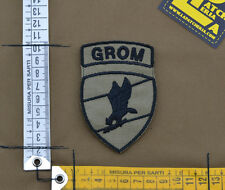 "Ricamata / Embroidered Patch ""Polish Grom Ins."" Coy. Tan with VELCRO® brand hook"