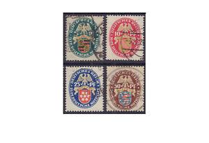 Deutsches Reich Nothilfe: Landeswappen (II) 1926 398/401 gestempelt