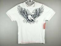 True Religion Jeans Mens SS EAGLE Logo Crew Neck T-Shirt White $39 Size XL