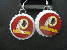 "1"" Bottle Cap Image Earrings ~ Handcrafted ~ **Gift Idea ~ Redskins"