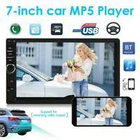 Bluetooth Car Radio Stereo 7'' Double 2DIN MP5 FM/USB/AUX Player Touch Head