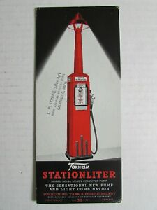 Rare 1930's Tokheim Stationliter Gas Pump Advertising Ink Blotter EA463