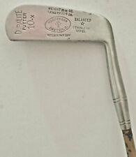 "Antique MacGregor Duralite 10-X Putter Stainless Steel Painted Steel Shaft 33.5"""