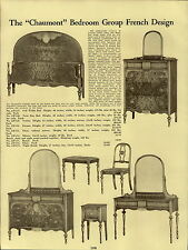 1937 PAPER AD French Desigh Bedroom Furniture Suite The Chaumont Vanity Chair