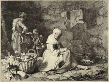 FRANCESCO LONDONIO - DIE ALTE MIT DEN KASTANIEN - Radierung 1763