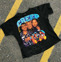 RARE! TLC - CREEP  CRAZY SEXY COOL  HOIP HOP T-SHIRT gildan black..