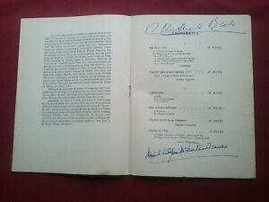 RARE 1957 PEDRO DE FREITAS BRANCO+CONSUELO RÚBIO HAND SIGNED PROGRAM