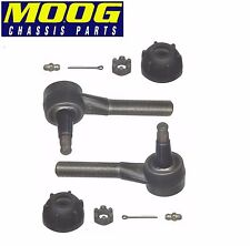 For Chevy Corvette Bel Air GMC 1000-Series Pair of Front Outer Tie Rod Ends Moog